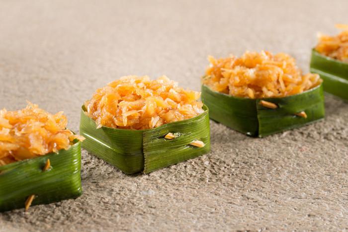 Reis-Kokosnuss-Dessert