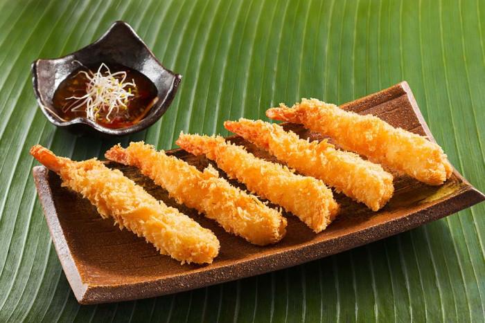 Shrimps Ebi fry Japanese style